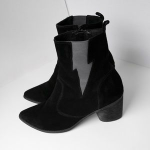 Teleport Bolt Black Heeled Chelsea Boots